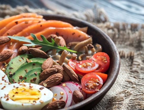 healthy-bowl-with-salmon-avocado-egg-and-vegs-PQRSJ8R---Copy